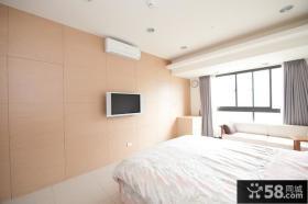 简约时尚卧室电视背景墙2015