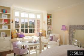 主卧室飘窗装修效果图 欧式卧室飘窗设计