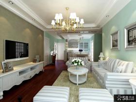 欧式现代客厅电视背景墙壁纸装修效果图
