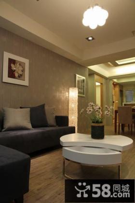 现代美式风格三居室装修图片