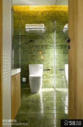 简约主卫生间瓷砖效果图欣赏
