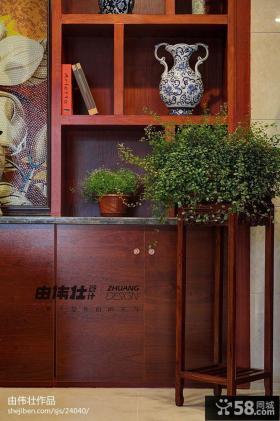 中式复式楼家居红木家具效果图