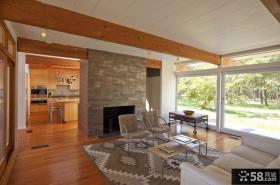 美式乡村装修图片 美式现代客厅装修效果图