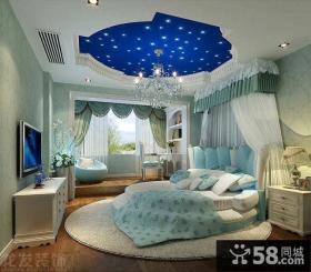 欧式别墅儿童房卧室吊顶装修