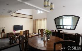 别墅餐厅客厅电视背景墙装修效果图欣赏