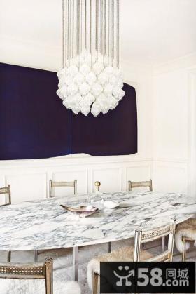 奢华北欧风格别墅室内餐厅设计效果图