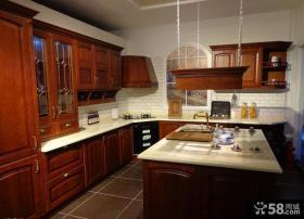 美式风格厨房整体厨柜图片