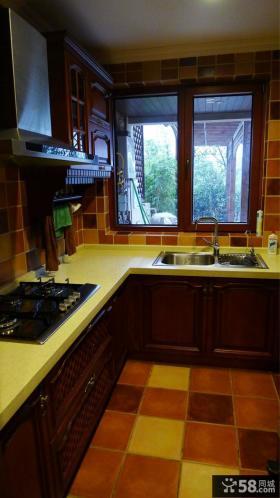 美式风格小厨房装修效果图大全