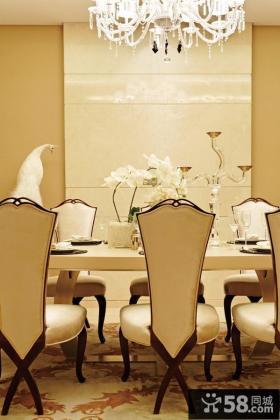 美式新古典风格餐厅图片大全2014