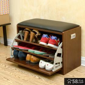 创意进门玄关鞋柜效果图