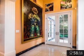进门玄关壁画装饰效果图