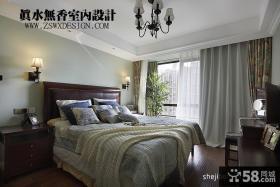 美式风格复式楼主卧室装修效果图