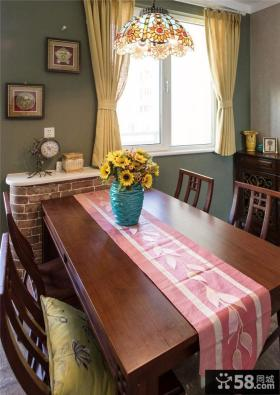 乡村美式餐厅室内装饰效果图