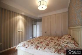 时尚美式田园卧室装修设计效果图