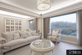 简欧风格别墅客厅窗户设计图片欣赏