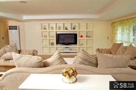 田园风格客厅电视背景墙效果图欣赏