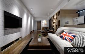 简约公寓小客厅电视背景墙图片大全