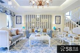 纯美地中海风格别墅客厅图片