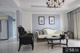 美式家庭公寓客厅效果图欣赏