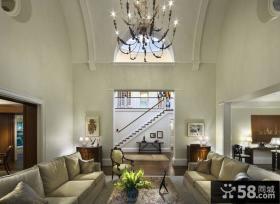 78万奢华的复式客厅装修效果图大全2014图片