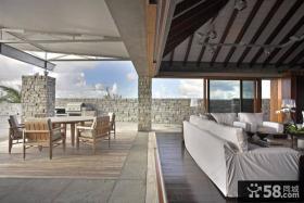 豪华别墅开放式阳台图片欣赏