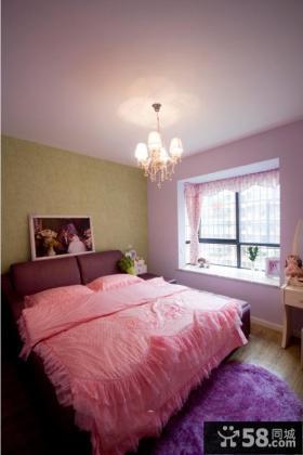 田园紫色卧室装修效果图大全