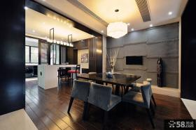 中式风格家居精装修别墅餐厅图片欣赏