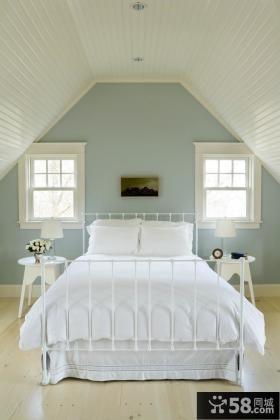 简约风格阁楼卧室装修效果图片
