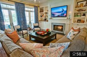 欧式风格客厅电视背景墙设计效果图