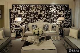 欧式客厅沙发背景墙装修效果图欣赏