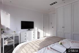 现代简约设计卧室电视背景墙图片