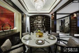 中式风格别墅餐厅效果图