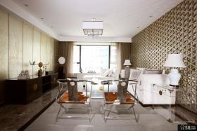 现代中式风格二居客厅装修效果图