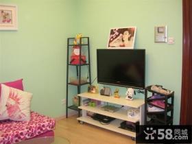 可爱型小客厅电视背景墙装修效果图大全2013