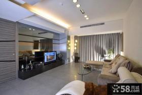 现代风格三室两厅客厅装修效果图欣赏大全