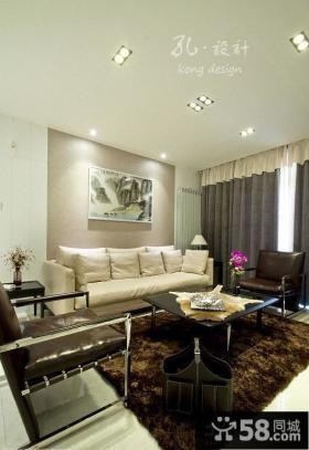 现代客厅沙发背景墙挂画图片