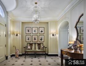法式风格豪华别墅休闲区背景墙效果图