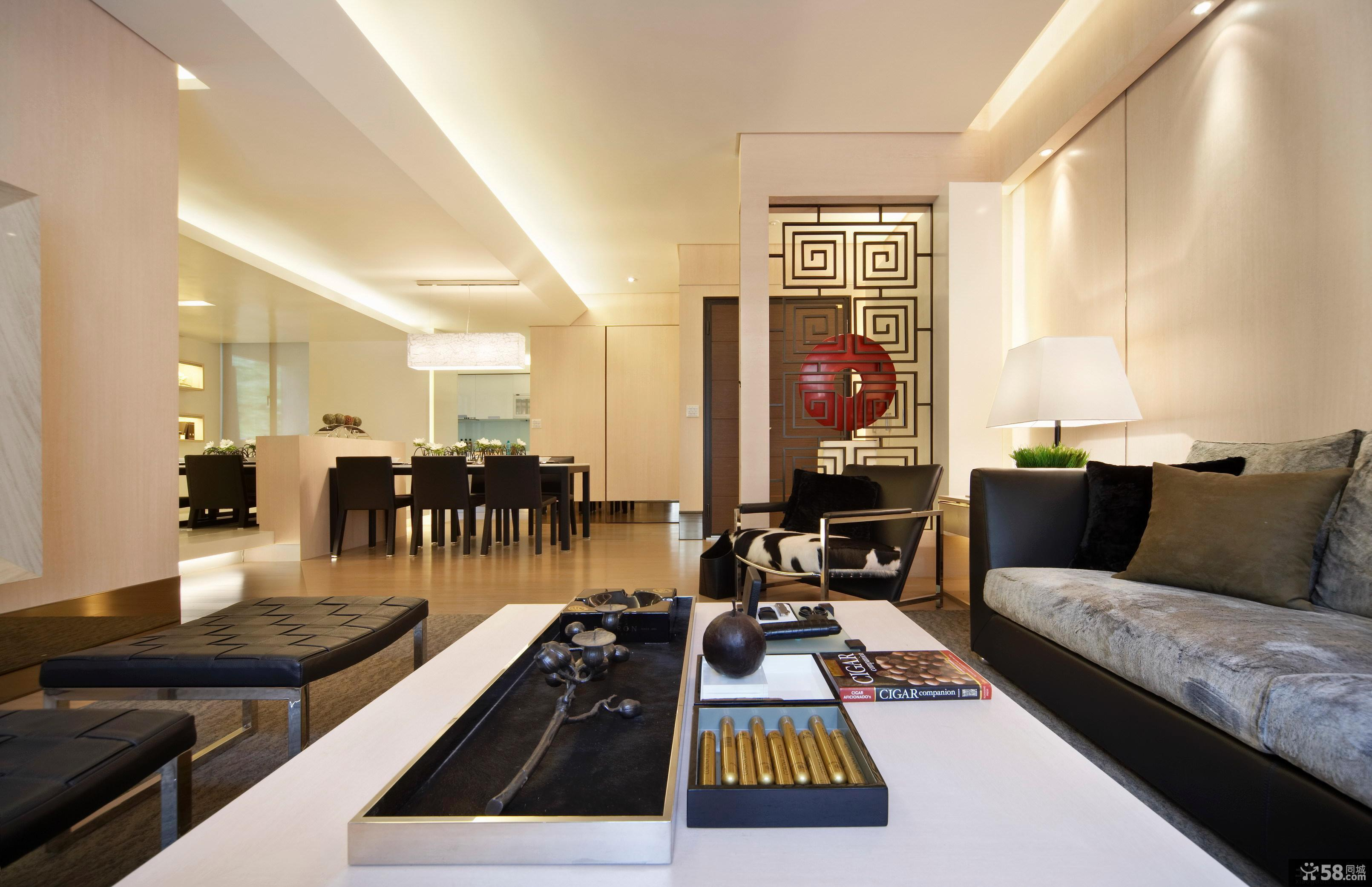 现代简约风格100平米房屋装修效果图
