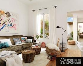 小复式灵动纯美的客厅装修效果图大全2013图片