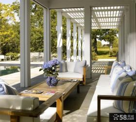 北欧风格私人别墅阳台装修效果图