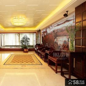 中式风格别墅客厅装修效果图片欣赏