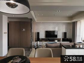 现代家庭设计装修客厅电视背景墙图片