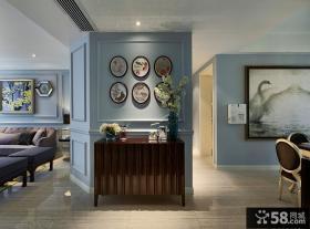 美式风格室内相片墙装饰效果图