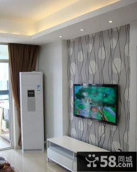 简约墙纸电视背景墙装修效果图
