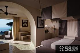 欧式拱形门墙壁隔断卧室装修效果图