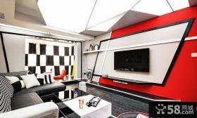 家庭创意风格客厅电视背景墙图片欣赏大全