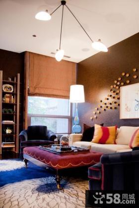欧式现代风格客厅背景墙装修效果图