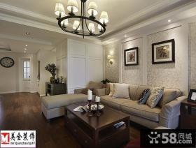 美式客厅家具摆放效果图片