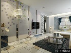 四居客厅电视背景墙装修设计效果图片