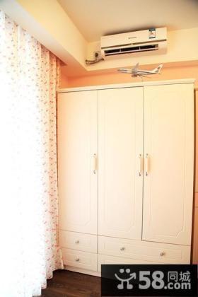 白色独立衣柜设计